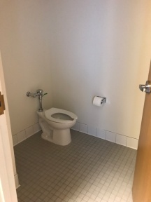 The very large toilet room.