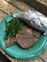 A special dinner of prime rib roast